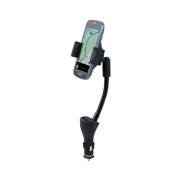 Muvit  muchl0033 soporte coche universal con 2 usb para móvil