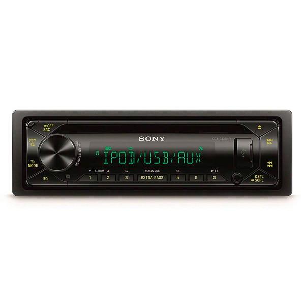Sony cdx-g3300uv receptor de cd para coche usb pantalla lcd amplificación 4 salidas de 55w extra bass