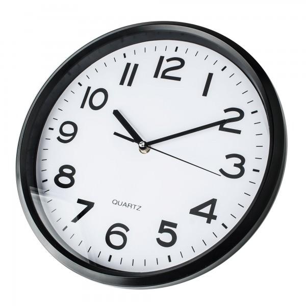 Reloj kuken blanco/negro redondo 30cm