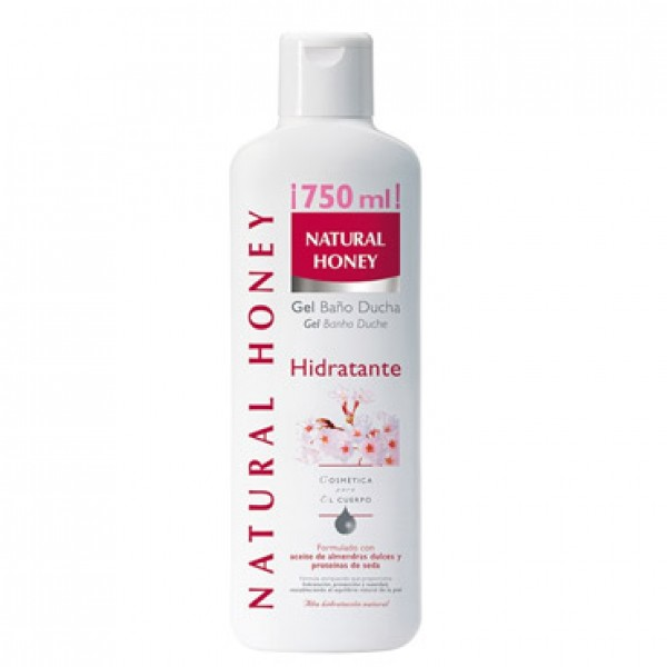 Natural honey gel de baño hidratante 750ml
