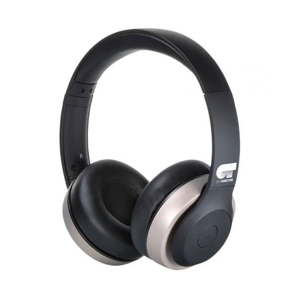 Ot by fonestar harmony dorado auriculares inalámbricos bluetooth con micrófono integrado y conexión aux