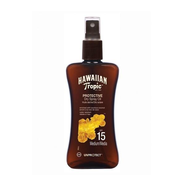 Hawaiian tropic protective dry spray oil spf15 medium 200ml vaporizador
