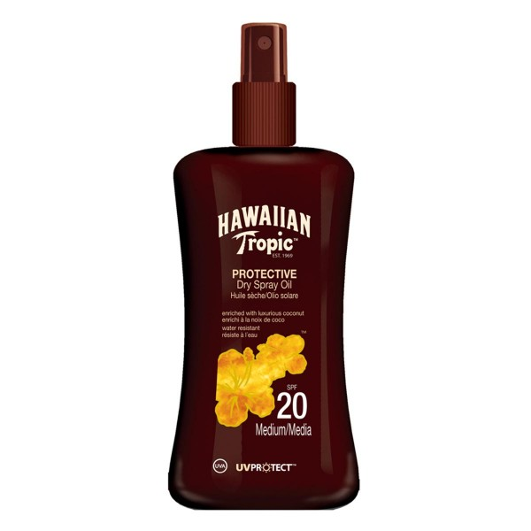 Hawaiian tropic protective dry spray oil spf20 medium 200ml vaporizador