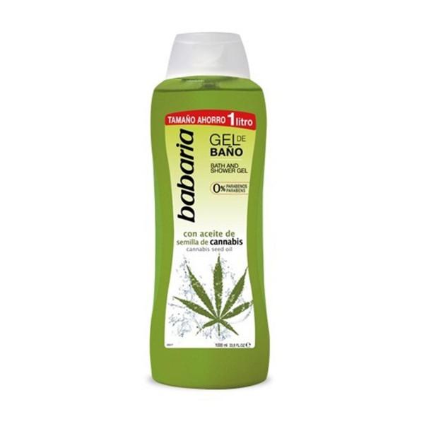 Babaria con aceite de semilla de cannabis gel de baño 1000ml
