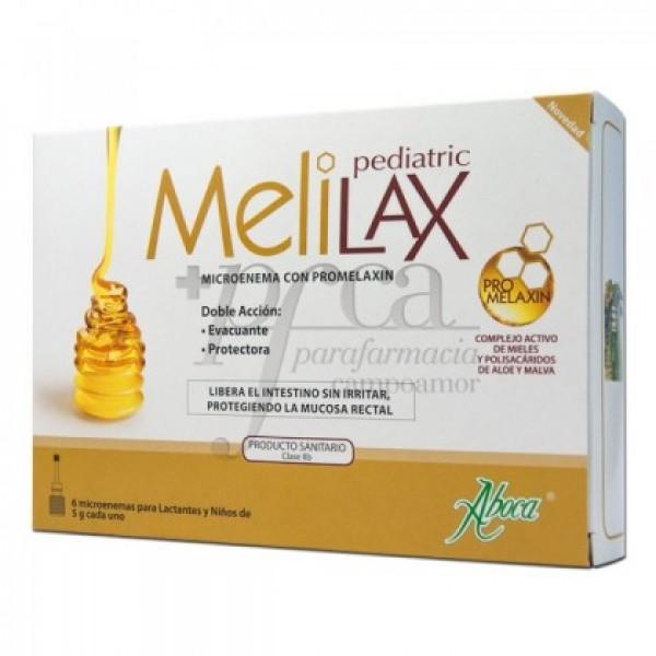MELILAX PEDIATRIC 6 MICROENEMAS DE 5G