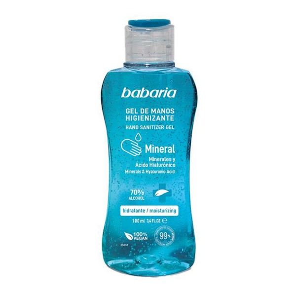 Babaria mineral gel de manos higienizante 70% alcohol 100ml