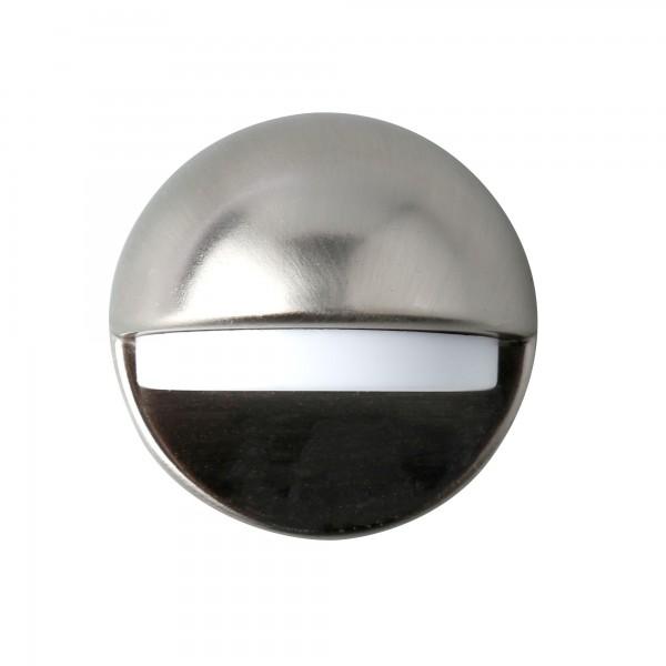 Tope puerta ovalado satinado adhesivo